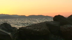 Waves hitting the rocks. HD 1080i Stock Footage
