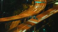 Bangkok highway time lapse 2 Stock Footage