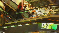 Shopping mall escalator time lapse 1 - stock footage