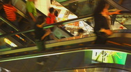 Shopping mall escalator time lapse 1 Stock Footage
