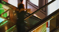 Shopping mall escalator time lapse Stock Footage