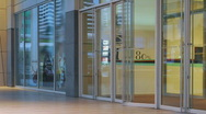 Shopping mall doors time lapse 2 Stock Footage