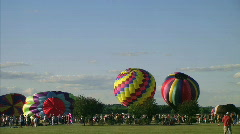 Hot Air Balloon Lift-Off Stock Footage