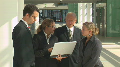 Meeting with notebook close Stock Footage