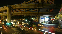 Bangkok intersection time lapse 5 Stock Footage
