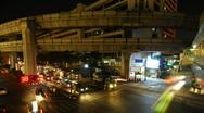 Bangkok intersection time lapse 5 Stock Footage