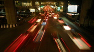 Stock Video Footage of Bangkok intersection time lapse 3