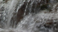 Stock Video Footage of waterfall very close standard