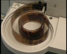 Scanning of a color photo negative film, PAL Stock Footage