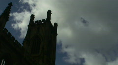Timelapse clouds over church steeple. HD 1080i Stock Footage