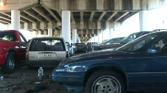 Abandoned Cars in New Orleans Stock Footage
