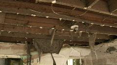 House interior after Huricane Katrina Stock Footage