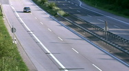 Stock Video Footage of Light traffic on German Autobahn