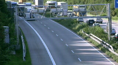 Toll collecting - stock footage
