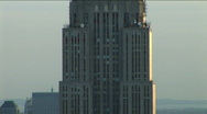 Stock Video Footage of NYC Empire State Building zoom day