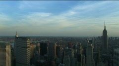 Manhattan skyline east day - stock footage