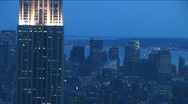 Stock Video Footage of NYC Empire skyline eve
