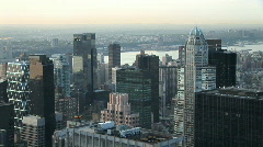 NYC skyline day - stock footage
