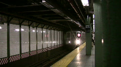 Times Square Subway Station Stock Footage
