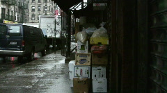NEW YORK SOHO in the rain Stock Footage