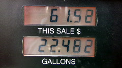 Gas pump sale to 91 dollars HD Stock Footage