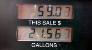 Stock Video Footage of Gas pump sale to 91 dollars HD