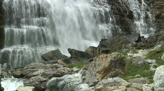 Detail of a waterfall Stock Footage