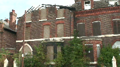 Derelict houses. HD 1080i Stock Footage