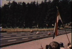 Soapbox car race-From 1960's film Stock Footage