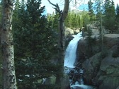 Stock Video Footage of RockyMountainAlbertaFalls1 NS DV NTSC