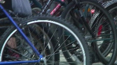Jm232-Bike Rack Stock Footage