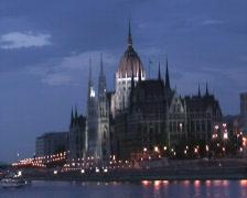 Hungarian Parliament - stock footage