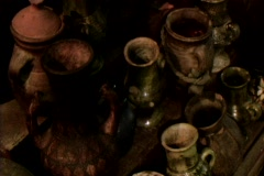3 shots of antiques - stock footage