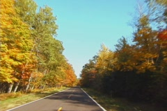 AutumnDrive1 NS DV NTSC Stock Footage