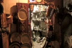 Old vintage metal crafts Stock Footage