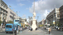 O'Connell St Dublin   Stock Footage