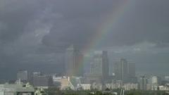 London rainbow - stock footage