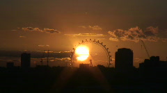 Stock Video Footage of London Eye sunset time-lapse