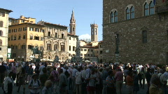 Piazza Della Signoria Stock Footage