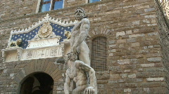 Statues Palazzo Vecchio  - stock footage