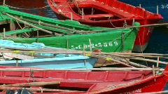 Boats in port Stock Footage