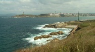Stock Video Footage of Atlantic coastline of Galicia, Spain