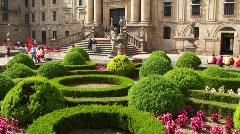 Convent of San Martino Pinario, Santiago de Compostela - stock footage