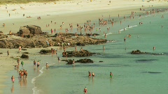 Beach in Galicia, Spain - WS Stock Footage