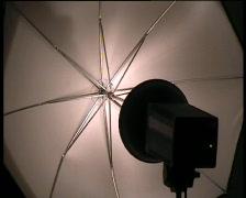 Umbrella flash 1 Stock Footage
