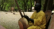 Stock Video Footage of Senegalese man playing instrument and singing ws