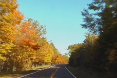 AutumnDrive4 NS DV NTSC Stock Footage