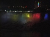 Stock Video Footage of NiagaraFallsAtNight1b NS DV NTSC