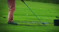 Stock Video Footage of Bad Golfing