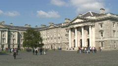 Trinity Collage Dublin  Stock Footage